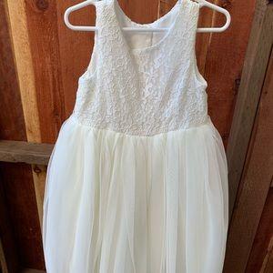 Ivory Flower Girl Dress - David's Bridal
